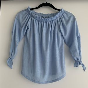 Off shoulder blue top from Portugal XS